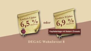 DEGAG Wohninvest 8 Festzinsanlage