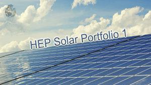 HEP Solar Portfolio 1 Übersicht Solarfonds
