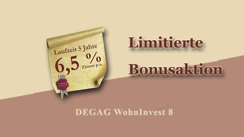 DEGAG Limitierte Bonusaktion