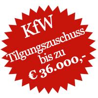 KfW Tilgungszuschuss KfW 85 Förderung 36000 Euro