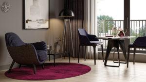 2-Zimmer Eigentumswohnung München Wohnzimmer Design