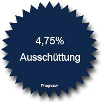4,75 Prozent Ausschüttung jährlich