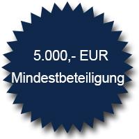 5000 Euro Mindestbeteiligung